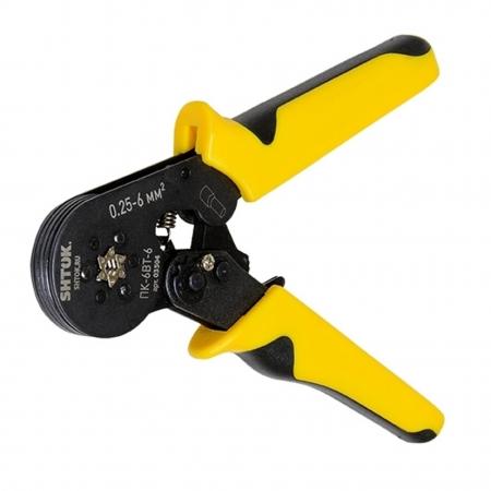 03504 ПРЕСС-КЛЕЩИ ПК-6ВТ-6 для опрессовки втулочных наконечников 0.25-6 мм2